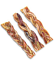 Flint River Ranch Braided Pizzle Sticks Dog Chews - Click to Enlarge