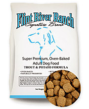 Flint River Ranch Premium Fish and Chips Trout and Sweet Potato Dog Food - Click to Enlarge