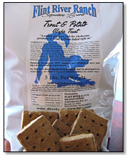 Flint River Ranch Fish and Chips Wafer Biscuits for Dogs - Click to Enlarge